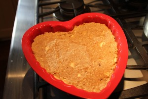 breakfast cake heart