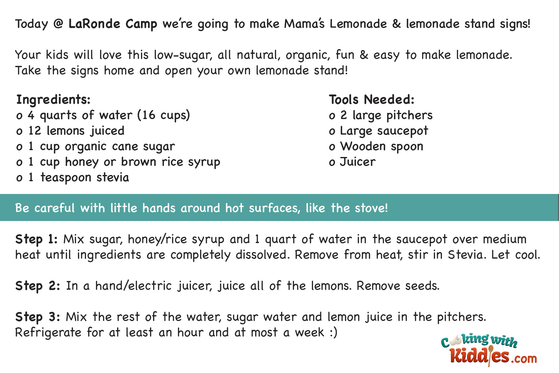 August 20th National Lemonade Day Mama O Neill